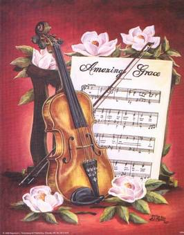 Amazing Grace with Violin/Music print
